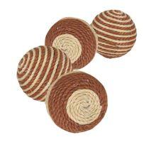 Provázkové míčky - hnědo-béžové 4,5 cm