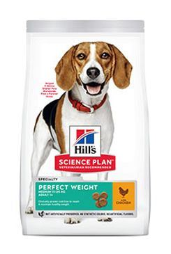 Hill's Can.Dry SP Perf.Weight Adult Medium Chicken12kg