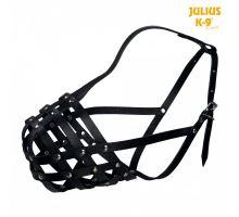 Julius-K9 náhubek hovězí kůže černý