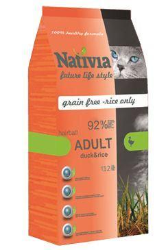 Nativia Cat Adult Duck&Rice Hairball