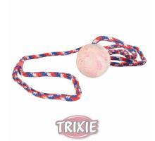 Vrhací míč z tvrdé gumy na šňůře  5 cm/1 m