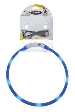 Obojek LED s USB dobíjením 50cm modrý IMAC