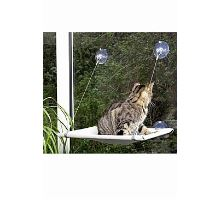 Odpočívadlo kočka okenní 51,5x31x2,5cm šedé KARLIE