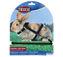 Postroj Králík zakrslý nylon+vodítko 8mm/1,20m Trixie