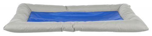 Chladící obdelníkový pelech Cool Dreamer s okrajem šedo/modrý