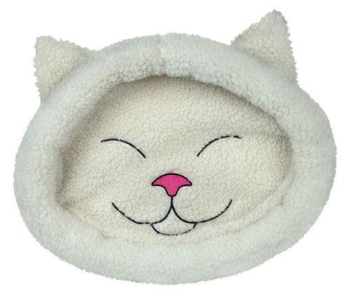 Pelíšek MIJOU kočičí hlava béžová 48 x 37 cm
