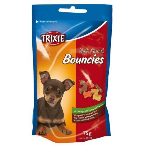 Soft Snack BOUNCIES mini kostičky kuřecí,jehněčí,dršťky