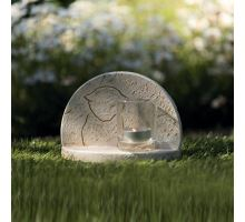 Náhrobní kámen s kočičí siluetou 16 x 12 x 7 cm