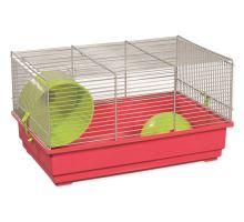 Klec SMALL ANIMAL Richard šedo-červená se zelenou výbavou 1ks