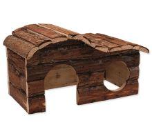 Domek SMALL ANIMAL Kaskada dřevěný s kůrou 31 x 19 x 19 cm 1ks