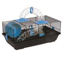 Klec SMALL ANIMAL Libor černá s modrou výbavou 1ks