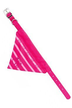 Obojek nylon se šátkem XS 19-24cm/10mm růžový 1ks