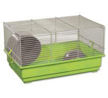 Klec SMALL ANIMAL Richard šedo-zelená se zelenou výbavou 1ks