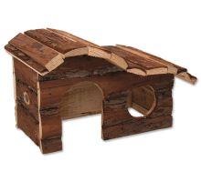 Domek SMALL ANIMAL Kaskada dřevěný s kůrou 26,5 x 16 x 13,5 cm 1ks