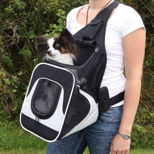 Nylonový batoh SAVINA klokanka 30x26x33cm černo-šedý