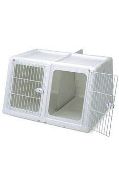 Přepravka IMAC pro dva psy plast šedá 96x86x58cm