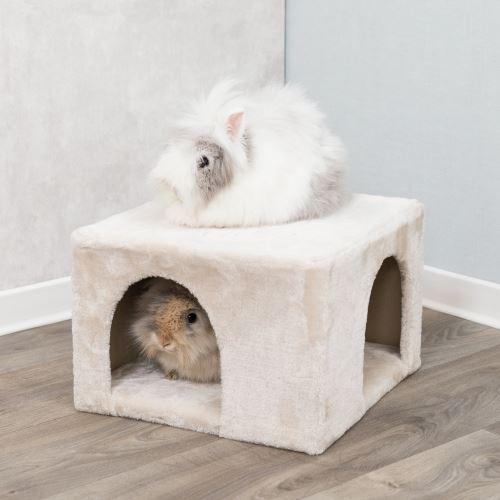 Plyšová jeskyně pro králíky 36 x 25 x 36 cm