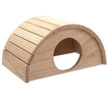 Domek SMALL ANIMAL Půlkruh dřevěný 31 x 20 x 15,5 cm 1ks