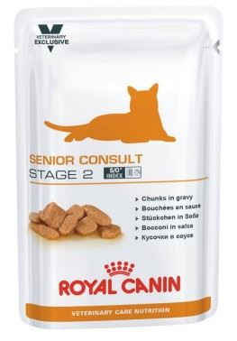 Royal Canin VED Cat Senior Consult Stage2 Pouch 12x100g