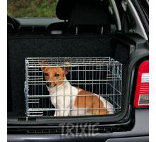 Klec do auta pro psa kovová 64x54x48cm 2x dveře TR