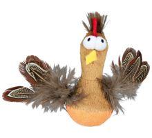 Bobo kuře s peřím a zvukem 10 cm