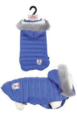 Obleček prošívaná bunda pro psy URBAN modrá