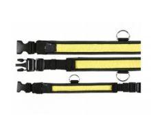 Obojek blikací nylon žluto/černý velikost 40-55/35mm VÝPRODEJ
