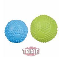 Sportovní míč z tvrdé gumy se zvukem 7cm