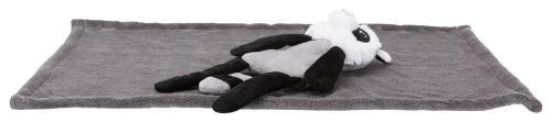 Dárková deka s plyšovým mývalem, 75 x 50cm, šedá