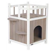 Natura kočičí domek s balkónem 45x65x45cm