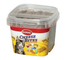 SANAL CHEESE BITES - plněný snack se sýrem, křupavý 75 g