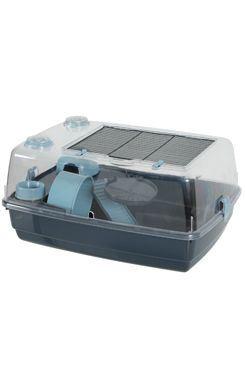 Klec křeček INDOOR 2 55cm Vision360 modrá/šedá Zolux