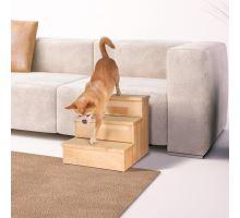 Dřevěné schody pro malé psy a kočky, max.50kg 40x38x45cm