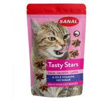 SANAL Cat Tasty Stars Salmon-hvězdičky s příchutí lososa 40g  VÝPRODEJ