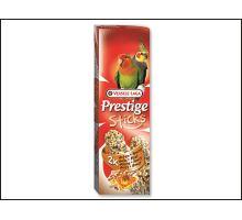Tyčinky Prestige ořechy a med pro střední papoušky 140g  VÝPRODEJ