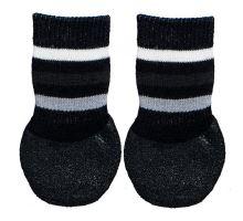 Protiskluzové ponožky černé, 2 ks pro psy bavlna/lycra