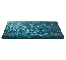 Prostírání motiv hejno ryb, petrolejová barva 44 x 28 cm