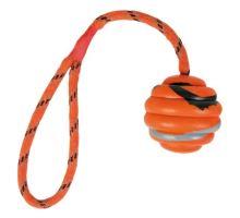 Vrhací vlnitý míč na šňůře 6cm/30cm