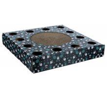 Škrabací karton s hračkou 33 x 33 cm černý