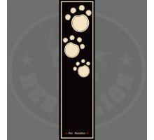 PET REBELLION- Běhoun, DR, černý, 45 x 150cm