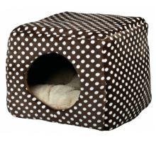 Kukaň/pelíšek MINA 40x32x40 cm hnědo/béžová