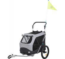 Vozík za kolo, s funkcí rychlého skládání M 63 x 95 x 90/132 cm šedý