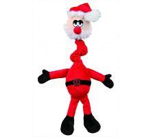 Vánoční plyš.hračka s natahovacím krkem Santa,los,medvěd40cm