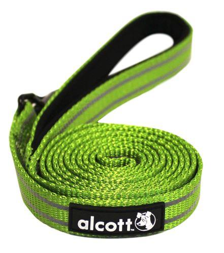 Alcott reflexní vodítko pro psy zelené, velikost S