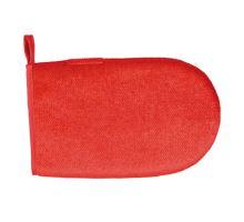 Rukavice na odstranění chlupů, oboustranná, červená