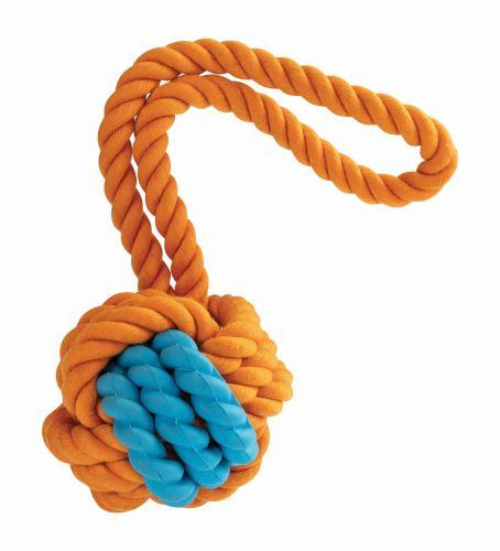 Kombinovaný Monty míč přírodní guma a bavlna s poutkem HipHop