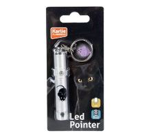 Hračka kočka LED světlo laser motiv MYŠ 8cm KARLIE