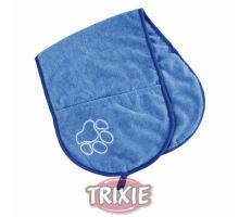 Vysoušecí šál s kapsami - modrý