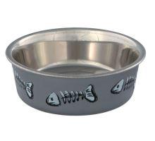 Nerez miska pro kočky s barevným potiskem 0,3 l/12 cm