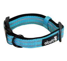 Alcott reflexní obojek pro psy modrý, velikost L